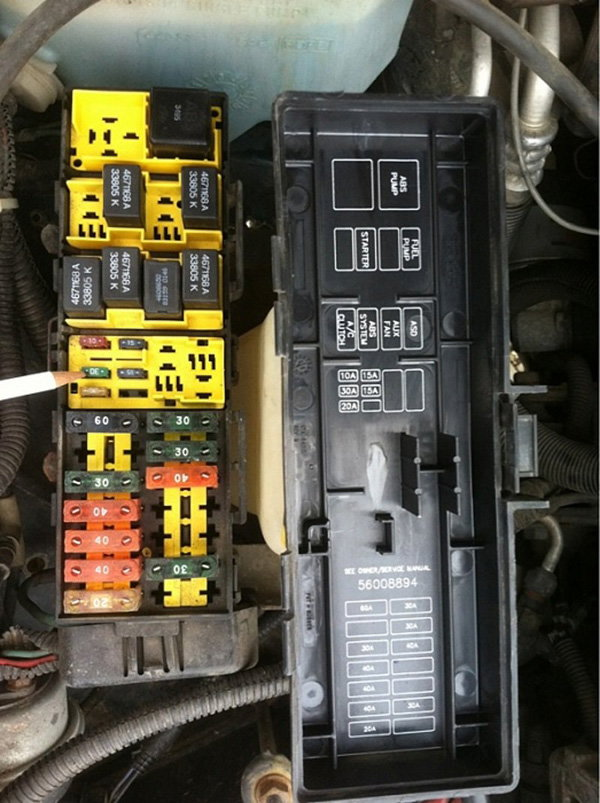 1994 1995 1996 1997 1998 Ford Mustang Fuse Diagram Fuse