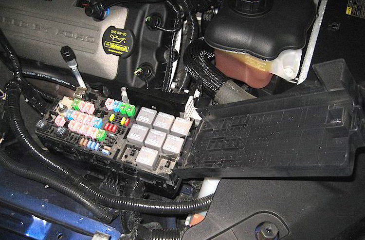 JPEG 5Open Exterior Fuse Box 95665 ford mustang v6 and ford mustang gt 2005 2014 fuse box diagram 2005 ford mustang under hood fuse box diagram at crackthecode.co
