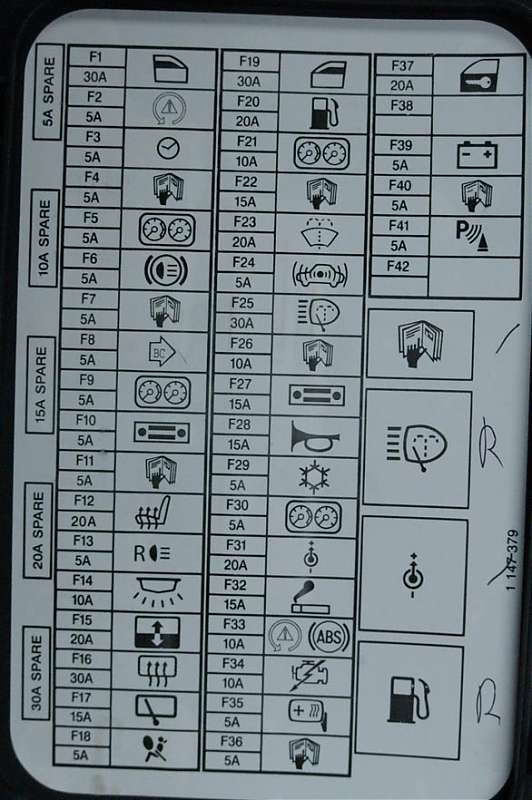 Mini Cooper 2001 To 2006 Fuse Box Diagram