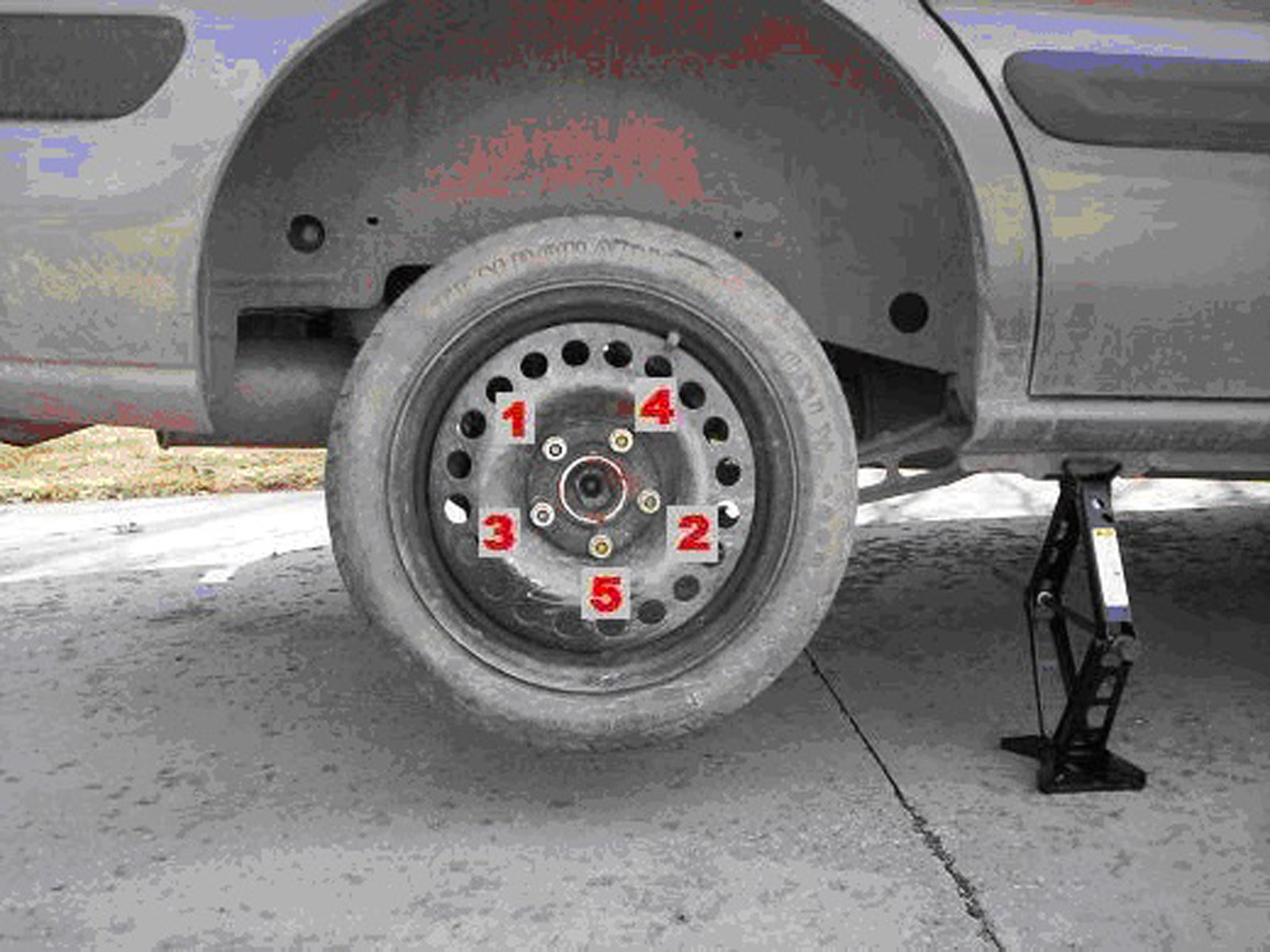 steps of changing a tire