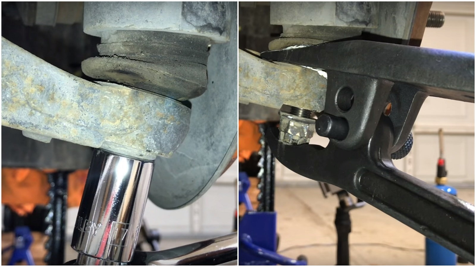 Disconnect the Lower Control Arm and Ball Joints