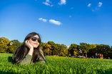 woman alone in a field