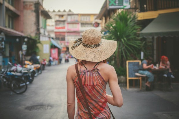 Woman travels the world sober