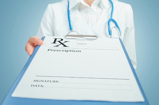 Doctor pushing prescription