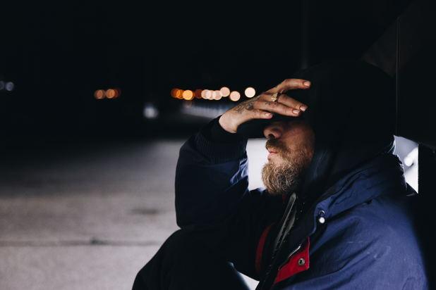 homeless addict