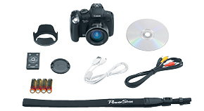 Canon PowerShot SX1 IS kit contents