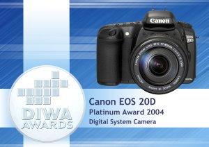 DIWA Award for Canon 20D