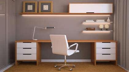 A modern home office.