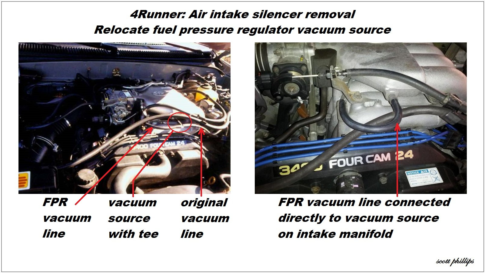Toyota 4Runner 1996-2002 How to Remove Air Intake Silencer