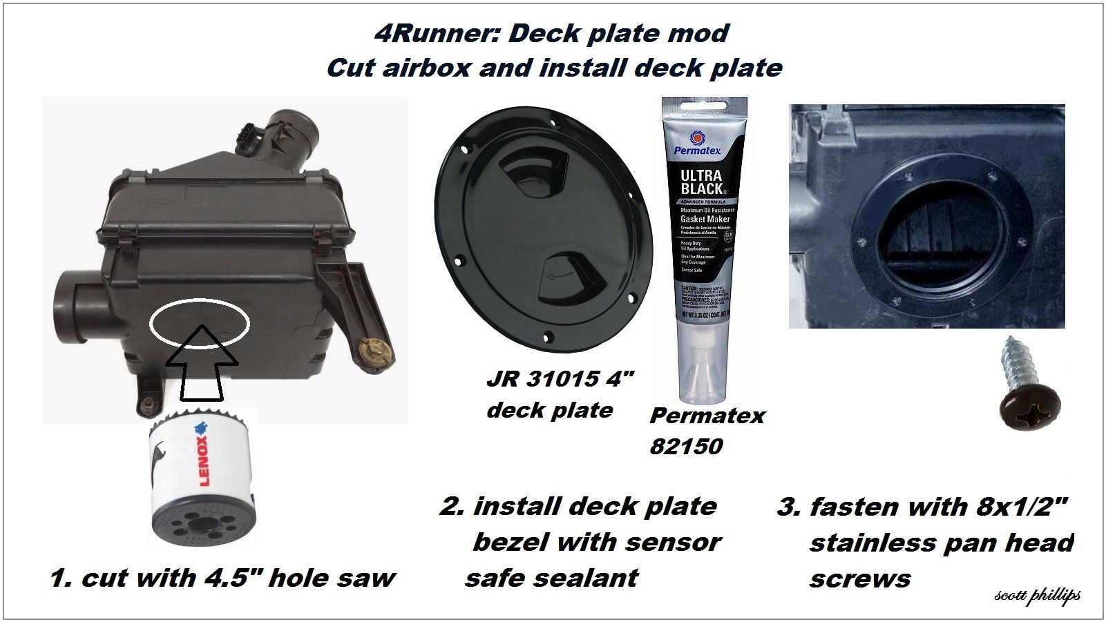 installing deck plate modification