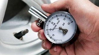 Check the tire's PSI using a tire pressure gauge