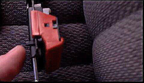 Toyota 4Runner latching mechanism, seat belt