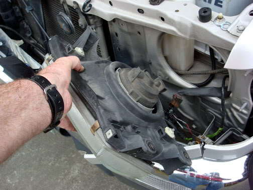 Consider replacing the headlights if damage is extensive