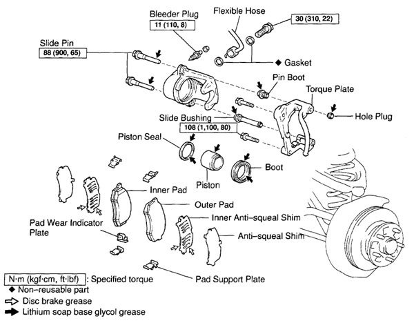 caliper of 2000 tacoma parts diagram trd toyota tacoma parts diagram