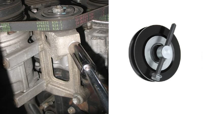toyota 4runner 22r 22re drive serpentine belt how to DIY replacement power steering A/C alternator