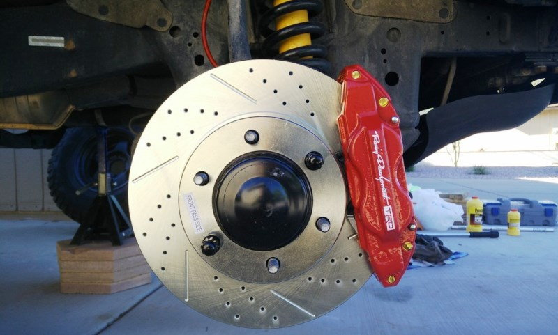 TRD upgraded brake components