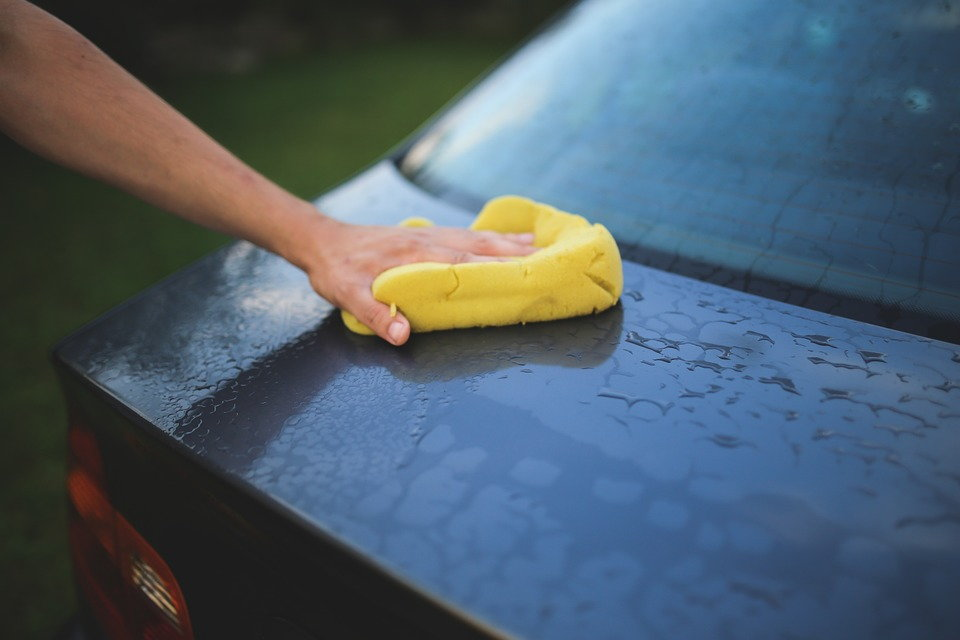 Wash your Toyota before beginning any paint repair work