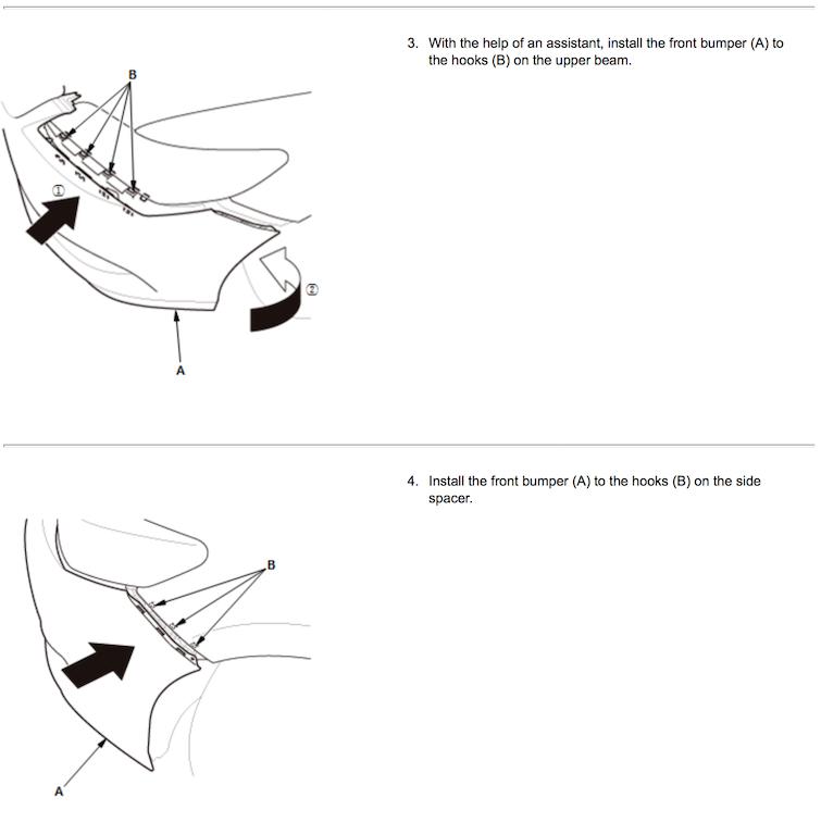 Front Bumper Camera Replacement Instructions