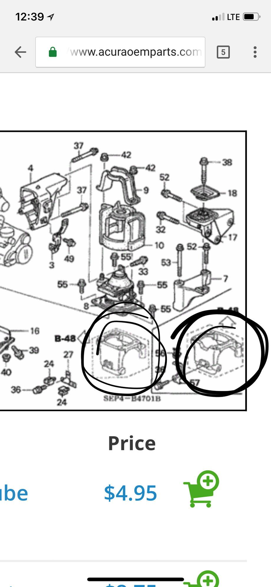 Rear Motor Mount Bracket - Acurazine