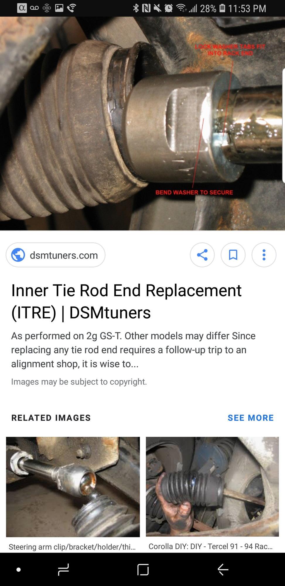 Steering Tie Rod For Acura Tl 2004-2008