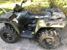 Day of purchase from private party.  Little did I know they were selling this quad with a worn out clutch.  $2500 mechanic bill **ouch**