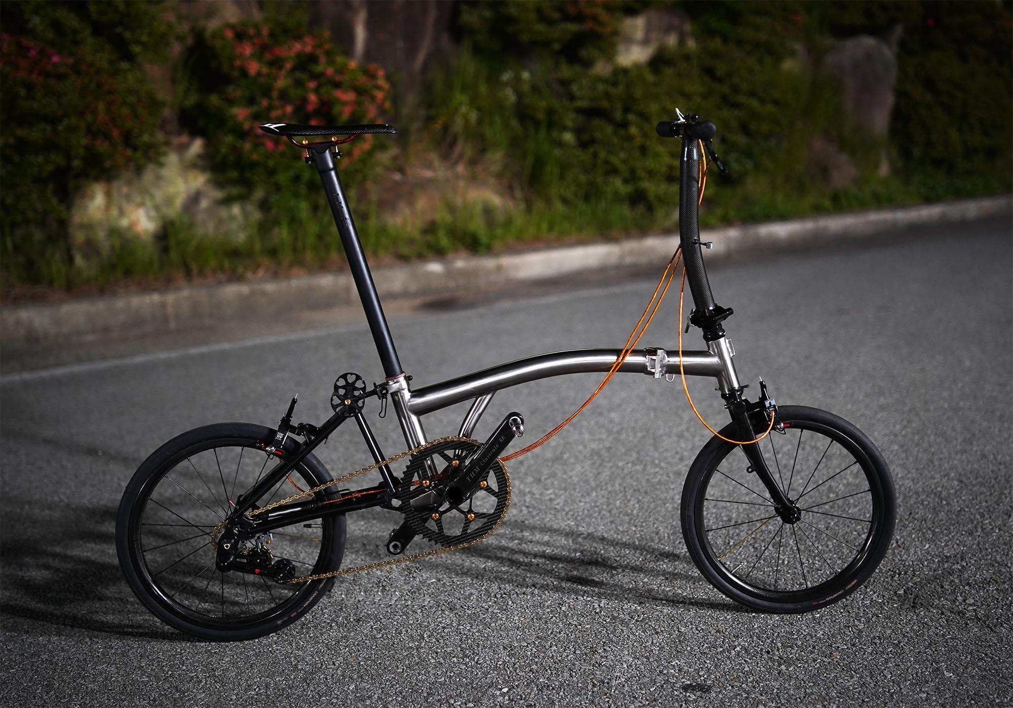 My Wife's full titanium Brompton clone Bike Forums
