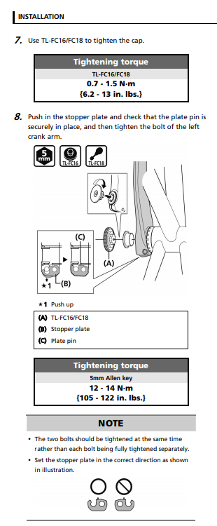 Shimano Hollowtech II Left MTB Crank Arm Safety Plate