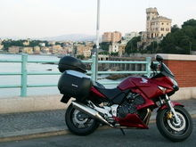 06 CBF600 Rental bike for a tour of Germany, Switzerland, and Italy. Picture taken in Genoa 2006