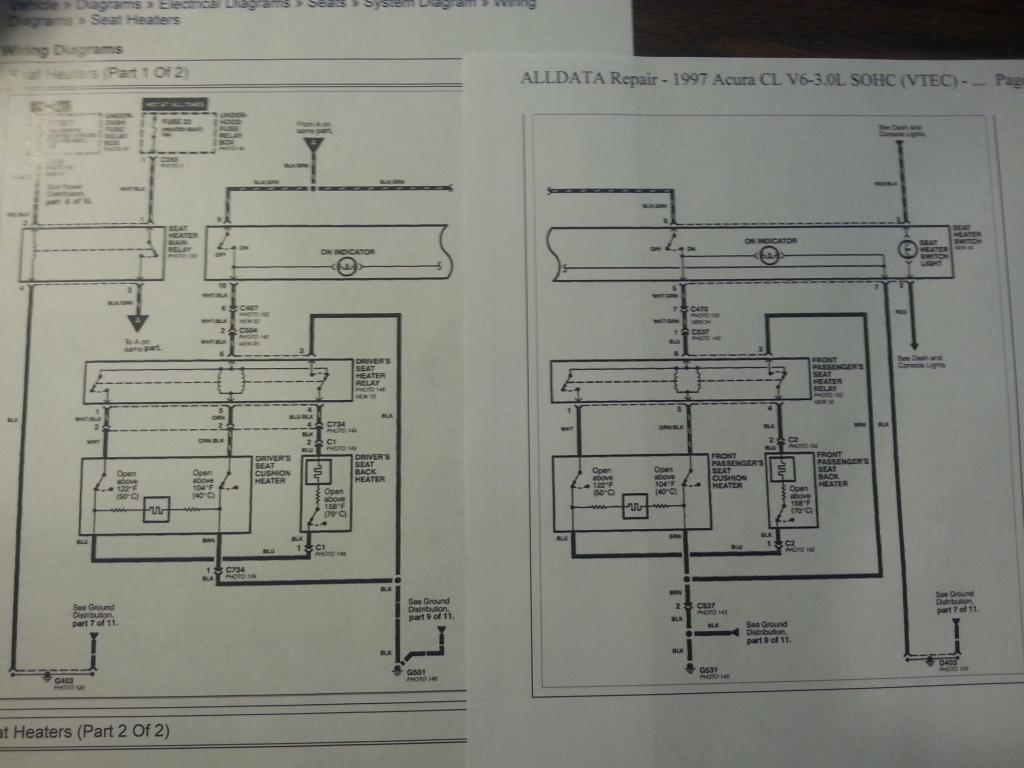 I went to go have a wiring diagram printed, and here's the entire heated  seat