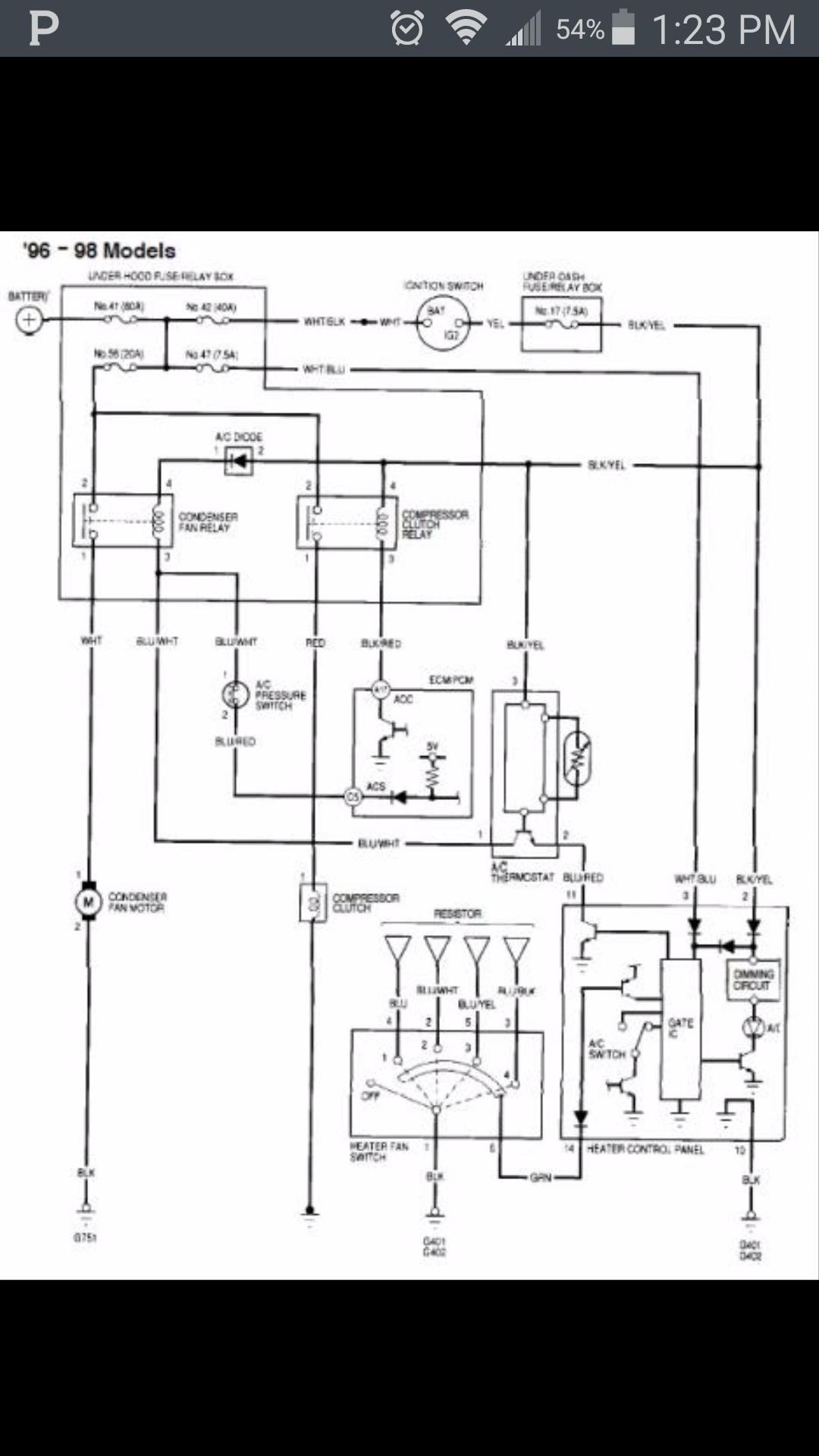 [SCHEMATICS_4PO]  No ac!! Heater control panel?? - Honda-Tech - Honda Forum Discussion | 96 Civic Climate Control Wiring Diagram |  | Honda-Tech