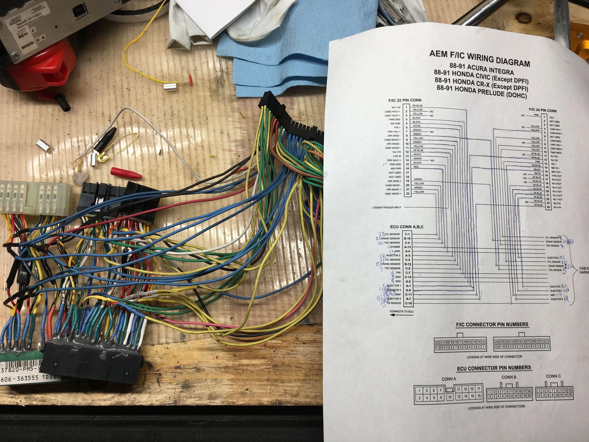 aem fic6 tuning a b18a obd0 pr4 code 9 honda tech honda forum vw jetta wiring diagram a bit messy lol