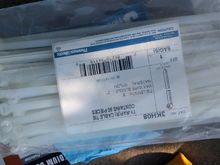 I bought these bomb zip ties.  They cost me $40 effing dollars for a bag of 50.