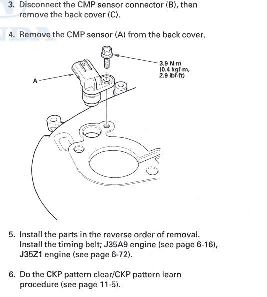Camshaft Position Sensor Location Hondatech Honda Forum Discussionrhhondatech: 2006 Honda Odyssey Camshaft Position Sensor Location At Gmaili.net