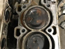 1 missing valve, upside down in a piston