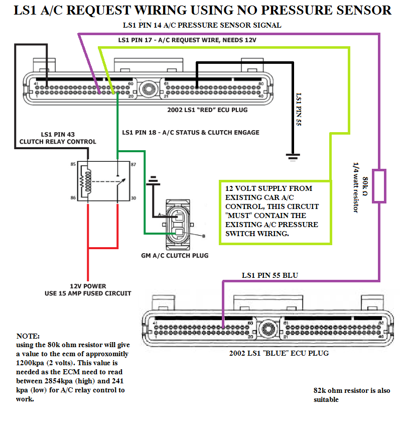 Ac Wiring Question     Yes I Did Search - Ls1tech