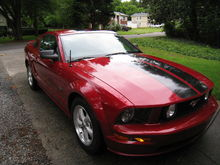 dark candy apple red 2008 Mustang GT