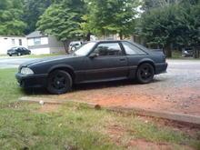 black wheels..