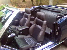 fiero seats with speakers covered to match orgional seats