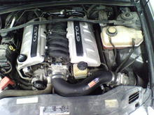 LS1  cold air intake hand held superchip tuner full exhaust straight pipes flowmaster 40 series