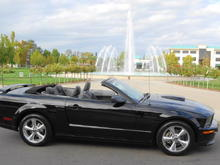 Black 2008 Mustang GT/CS Convertible