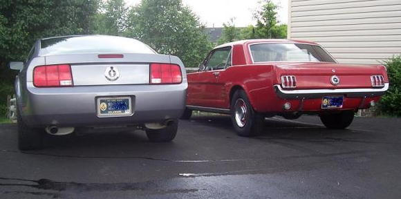 The 2006 PP coupe (sold) and the 66 coupe (never to be sold)