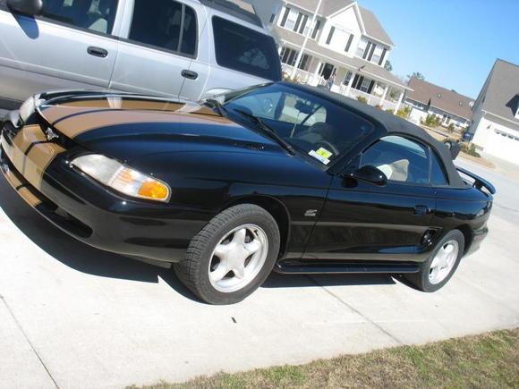 Mustang left side stripes