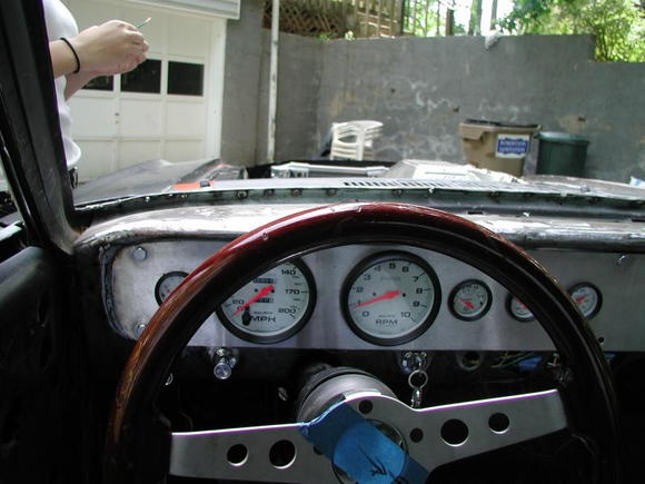 driver view of custom dash