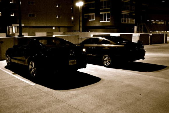 Friend's 2010 gt and my car
