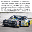 Salem/CRA street stock   for sale $1