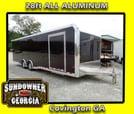 2020 ALL ALUMINUM 8.5x28 Sundowner Race Trailer Loaded