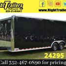 2020 Continental 24' Race Trailer - Cabinets, Alum Wheels