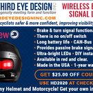 inView Wireless Helmet Mounted Brake and Turn Signal Light