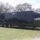 New 2018 32' Blacked Out Cont. Cargo Auto Master Car Trailer