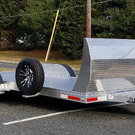 18 Foot Aluminum Car Trailer with Air Dam (2020)